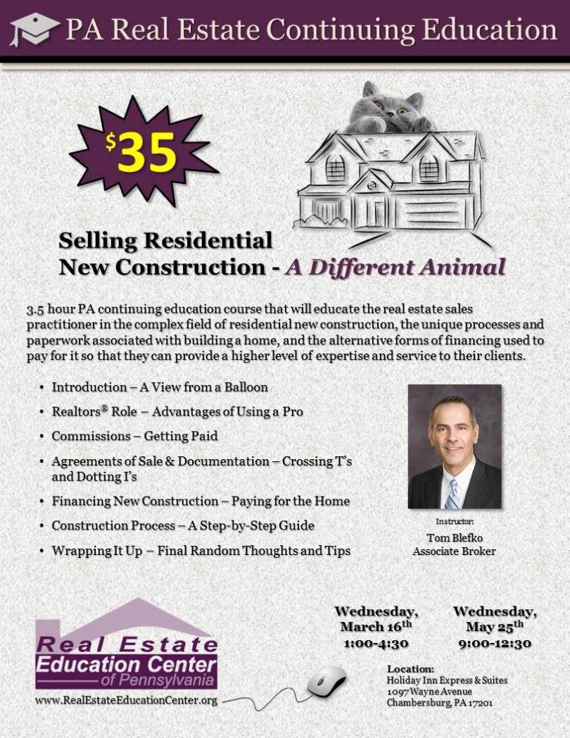 Selling Residential New Construction - A Different Animal